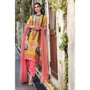 Embroidered Jacquard Unstitched 3 Piece Suit BCT-03