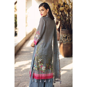 Embroidered Jacquard Unstitched 3 Piece Suit BCT-08