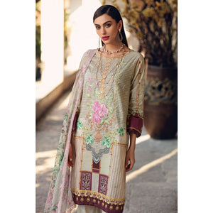 Embroidered Jacquard Unstitched 3 Piece Suit BCT-09