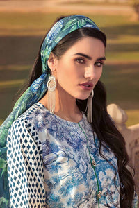 Gul Ahmed Printed Chiffon with Emroidered Border Multi 3 PC Unstitched Suit BM-73