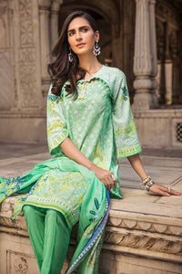 GREEN UNSTITCHED 3 PC SUIT CBN-100 A