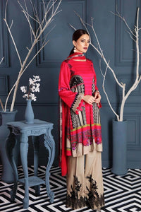 Charizma Embroidered Linen Unstitched 3 Piece Suit CCW-07 Lush Charms
