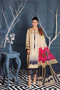 Charizma Embroidered Linen Unstitched 3 Piece Suit CCW-09 Create Vogue