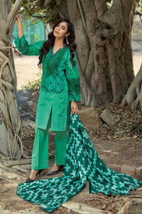Ready To Wear Gul Ahmed Green 3 Pcs Stitched Suit CD-12 A
