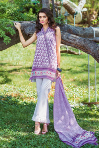 Ready to wear Gul Ahmed Printed Purple 3 PC Dress CL-519 B-ST