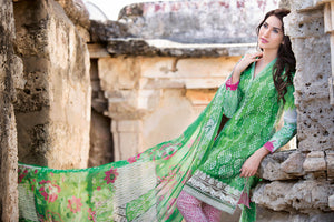 Gul Ahmed Premium Embroidered CHANTILLY DE LACE GREEN CT-171