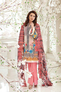 Gul Ahmed Printed Lawn Unstitched 3 Piece Suit CT-233