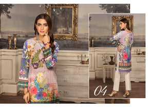 Riaz Arts digital Embroidered Unstitched Kurti By Luxe D-07