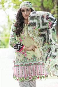 UNSTITCHED LAWN D-1614-A - GREEN