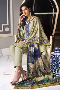 GREEN UNSTITCHED 3 PC SUIT DCS-10