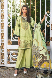 Gul Ahmed 3PC Embroidered Satin Shirt with Dyed Cambric Bottom DCS-14