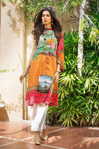 GUL AHMED  1PC Embroidered Satin Shirt DCSS-07