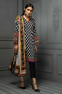Ready To Wear Gul Ahmed Black 3 Pcs Stitched Suit DS-13