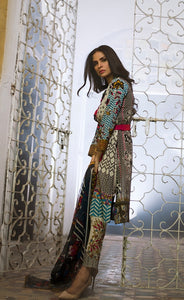 Lakhani Embroidered Lawn Unstitched 3 Piece Suit-TRIBAL POP-UP 3b - CREAM