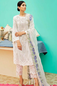 CHARIZMA EID 3PC  UNSTITCHED DRESS ED-39 - CREAM