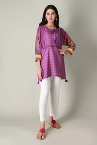 Ready to Wear Khaadi 1 Piece Kurta ETP-20320 Purple
