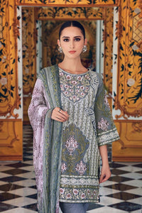 Gul Ahmed 3 Pc Blended Chiffon FE-111 - Grey