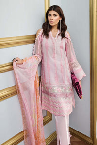 Light Pink 3 Pc Blended Chiffon FE-114