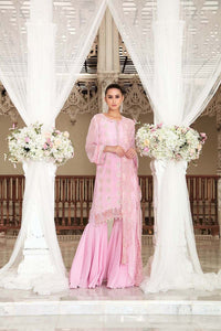 Light Pink 3 Pc Blended Chiffon FE-115 - WHITE