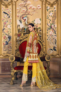 Gul Ahmed Digital Printed and Embroiderd Yellow 3 Pc Embroidered FE-132