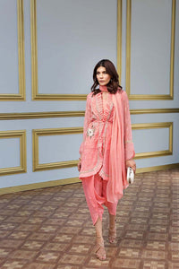 Pink 3 Pc Embroidered FE-142 - PINK
