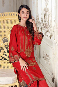 Red 1 PC Unstitched Shirt FE-166