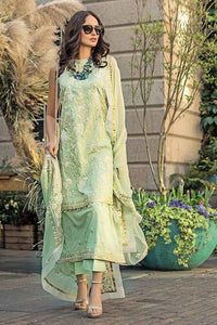 Green 3 PC Unstitched Dress FE-178