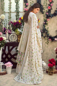 Off White  3 PC Unstitched Dress FE-180