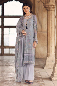 Grey 3 PC Unstitched Dress FE-248
