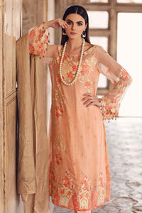 Gul Ahmed Embroiderd Peach 3 PC Unstitched Dress FE-252