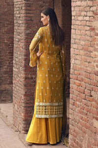 Mustard 3 PC Unstitched Dress FE-253