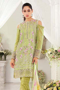 Gul Ahmed Light Green 3 Pc Blended Chiffon FE-82