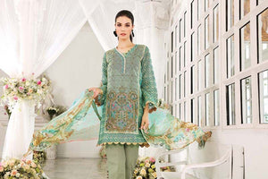 Green 3 Pc Blended Chiffon FE-85