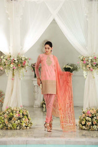 Light Pink 3 Pc Blended Chiffon FE-94