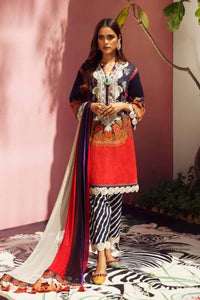 SANA SAFINAZ MAHAY 3 Piece Unstitched Ladies Lawn Suit H201-020A-CI