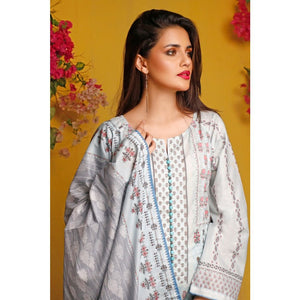 Gul Ahmed Baraan Mid Summer 2020 3 PC Unstitched Digital Printed Suit CL-898