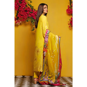 Gul Ahmed Baraan Mid Summer 2020 3 PC Unstitched Digital Printed Suit CL-918