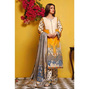 Gul Ahmed Baraan Mid Summer 2020 3 PC Unstitched Digital Printed Suit CL-947