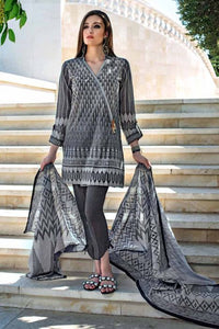 Ready To Wear Gul Ahmed Grey 3 Pcs Stitched Suit K-31 A