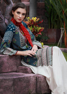 LSM Kantha Luxury Embroidered KN-510 - BLUE