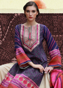 LSM Kantha Luxury Embroidered KN-511 - PURPLE