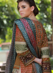 LSM Kantha Luxury Embroidered KN-513 - BROWN