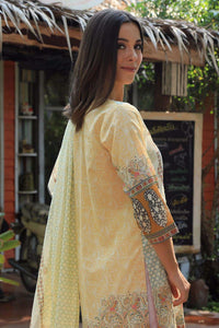 LSM 2 PC UNSTITCHED DRESS KED-004 - YELLOW