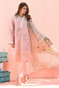 LSM EXCLUSIVE 3 PC UNSTITCHED DRESS LEC-009 - PINK