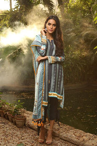 Lakhany Stitched Aangan Embroidered 3 Piece Suit AE-6601 B