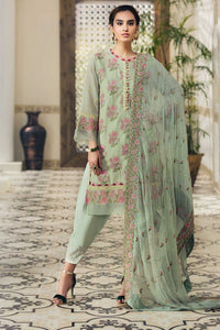 Green 3 PC Unstitched Suit LSV-07