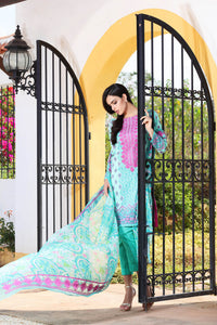 Gul Ahmed 3 Piece Unstitched Embroidered Chantilly De Lace Dress CT-169 - Green
