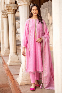 Pink 3 PC Unstitched Jacquard Suit MJ-37 A