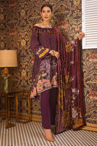 Dark Purple Unstitched 3PC Dress MV-11