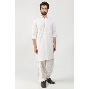 Gul Ahmed Ready to Wear Off White Fashion Suit SKE-175